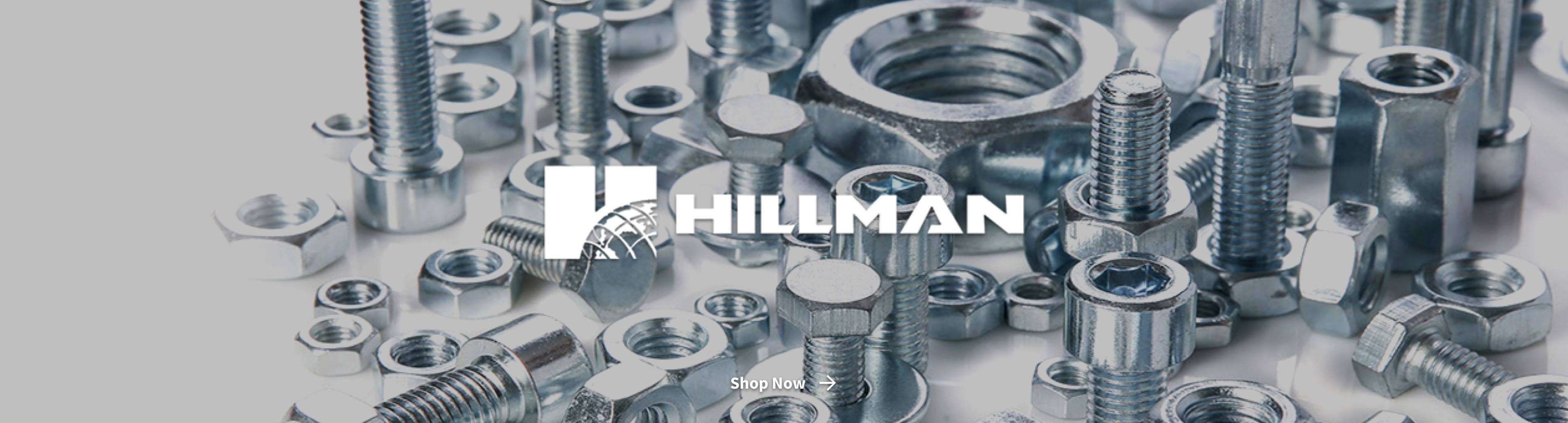 Hillman fasteners with logo