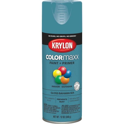 Krylon ColorMaxx Gloss Bahama Sea 12 Oz. Spray Paint