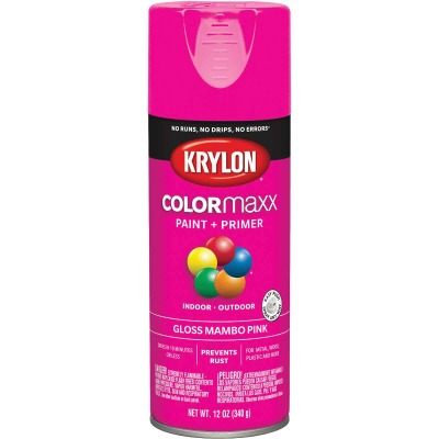 Krylon ColorMaxx Gloss Mambo Pink 12 Oz. Spray Paint