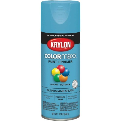 Krylon ColorMaxx Satin Island Splash 12 Oz. Spray Paint