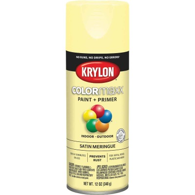 Krylon ColorMaxx Satin Meringue 12 Oz. Spray Paint