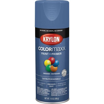 Krylon ColorMaxx Satin Periwinkle 12 Oz. Spray Paint