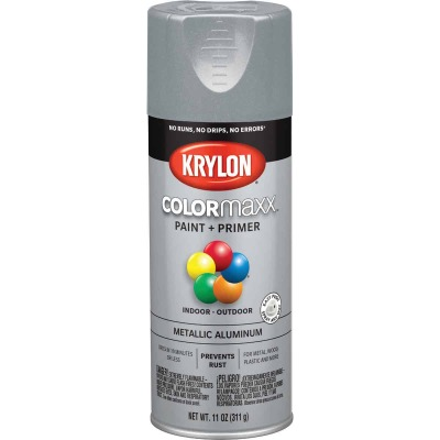 Krylon ColorMaxx Satin Aluminum 12 Oz. Metallic Spray Paint