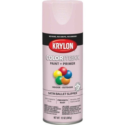Krylon ColorMaxx Satin Ballet Slipper 12 Oz. Spray Paint