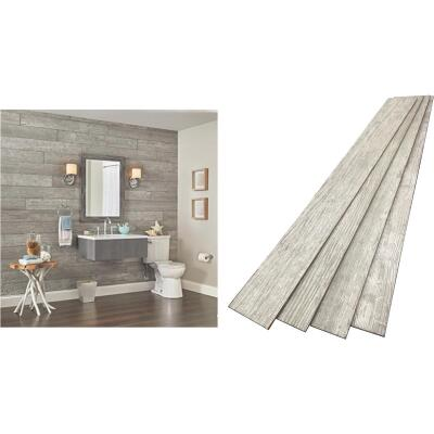 DPI 6 In. W. x 48 In. L. x 1/4 In. Thick Pewter Gray Rustic Wall Plank (12-Pack)