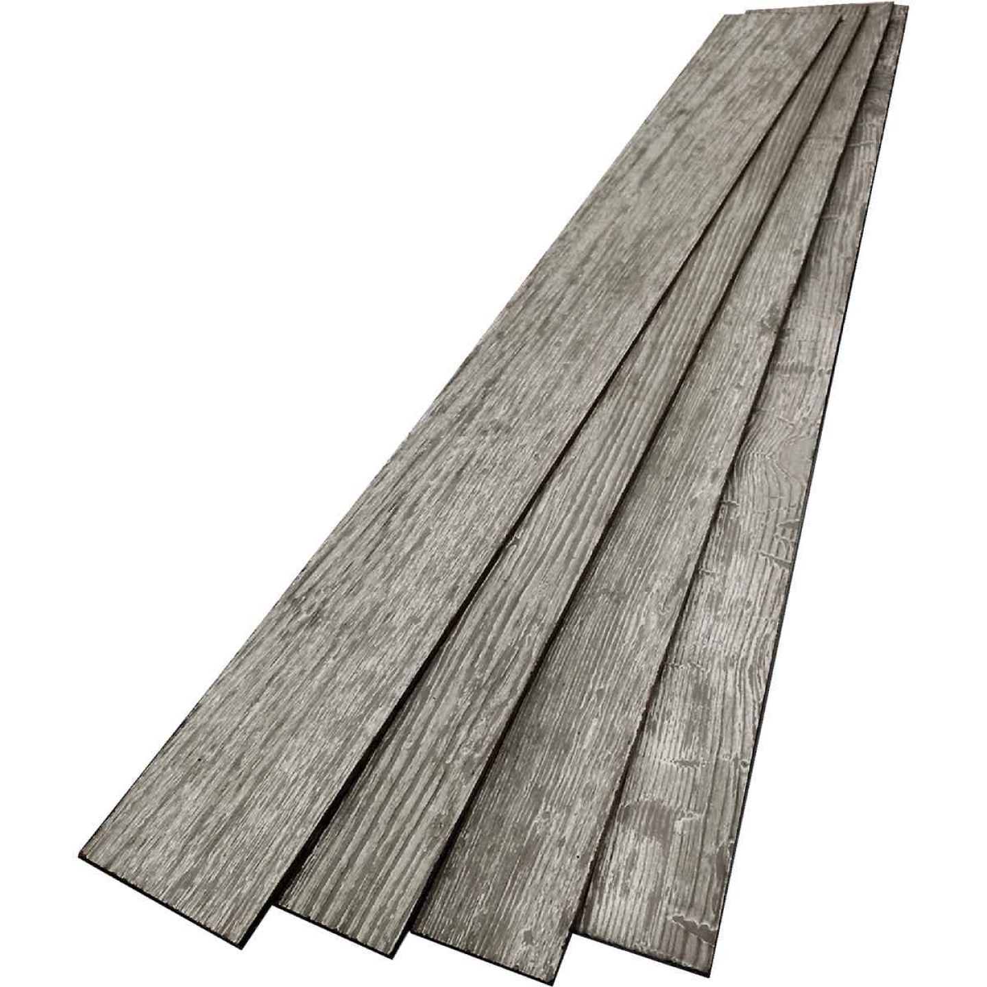 DPI 6 In. W. x 48 In. L. x 1/4 In. Thick Thunder Gray Rustic Wall Plank (12-Pack) Image 3