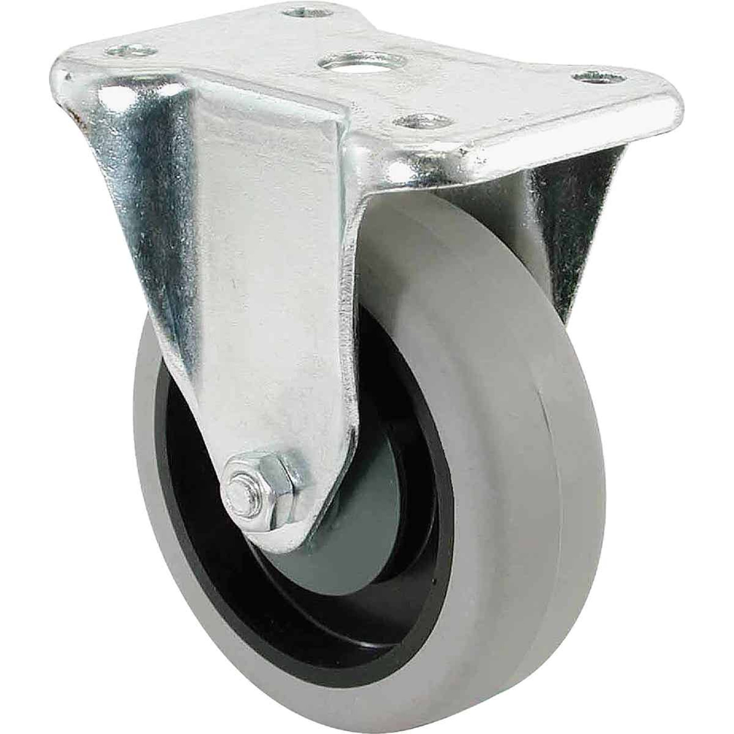 Shepherd 4 In. Thermoplastic Rigid Plate Caster Image 1