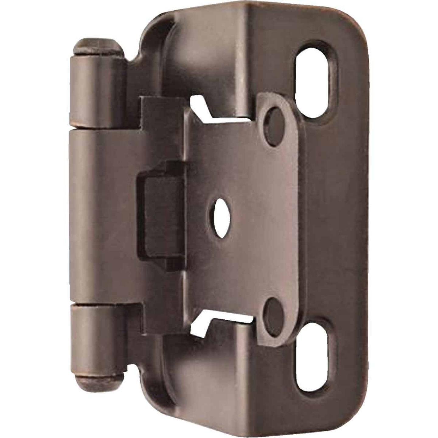 Amerock Oil Rubbed Bronze Self-Closing Partial Wrap Overlay Hinge (2-Pack) Image 1