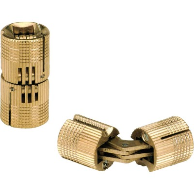 SOSS Solid Brass 5/8 In. Invisible Barrel Hinge, (2-Pack)