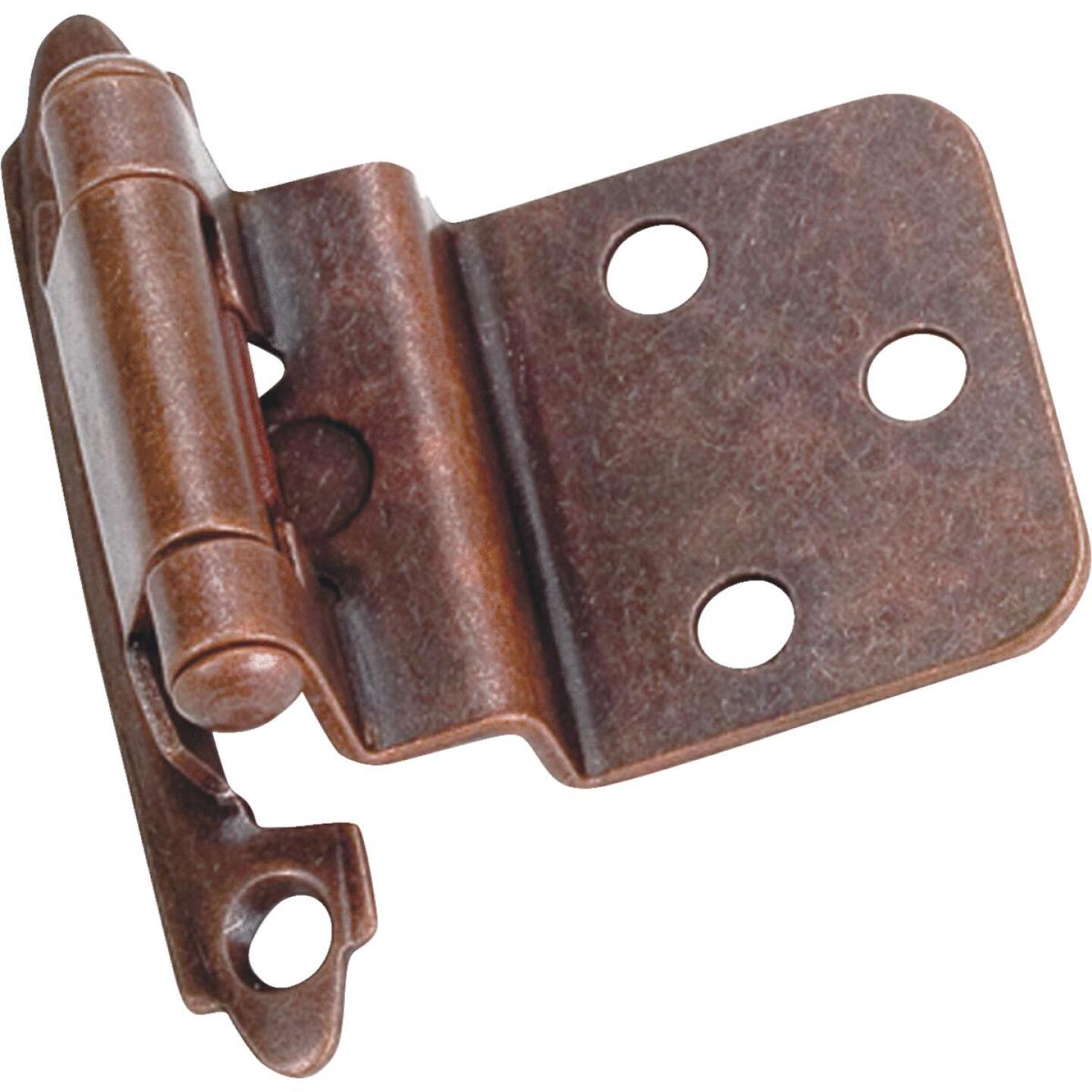 Laurey Venetian Bronze 3/8 In. Self-Closing Inset Hinge, (2-Pack) Image 1