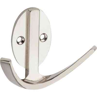 Stanley Home Designs Satin Nickel Modern Double Robe Wardrobe Hook