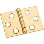 National 1-1/2 In. x 2 In. Brass Desk Hinge (2-Pack) Image 1