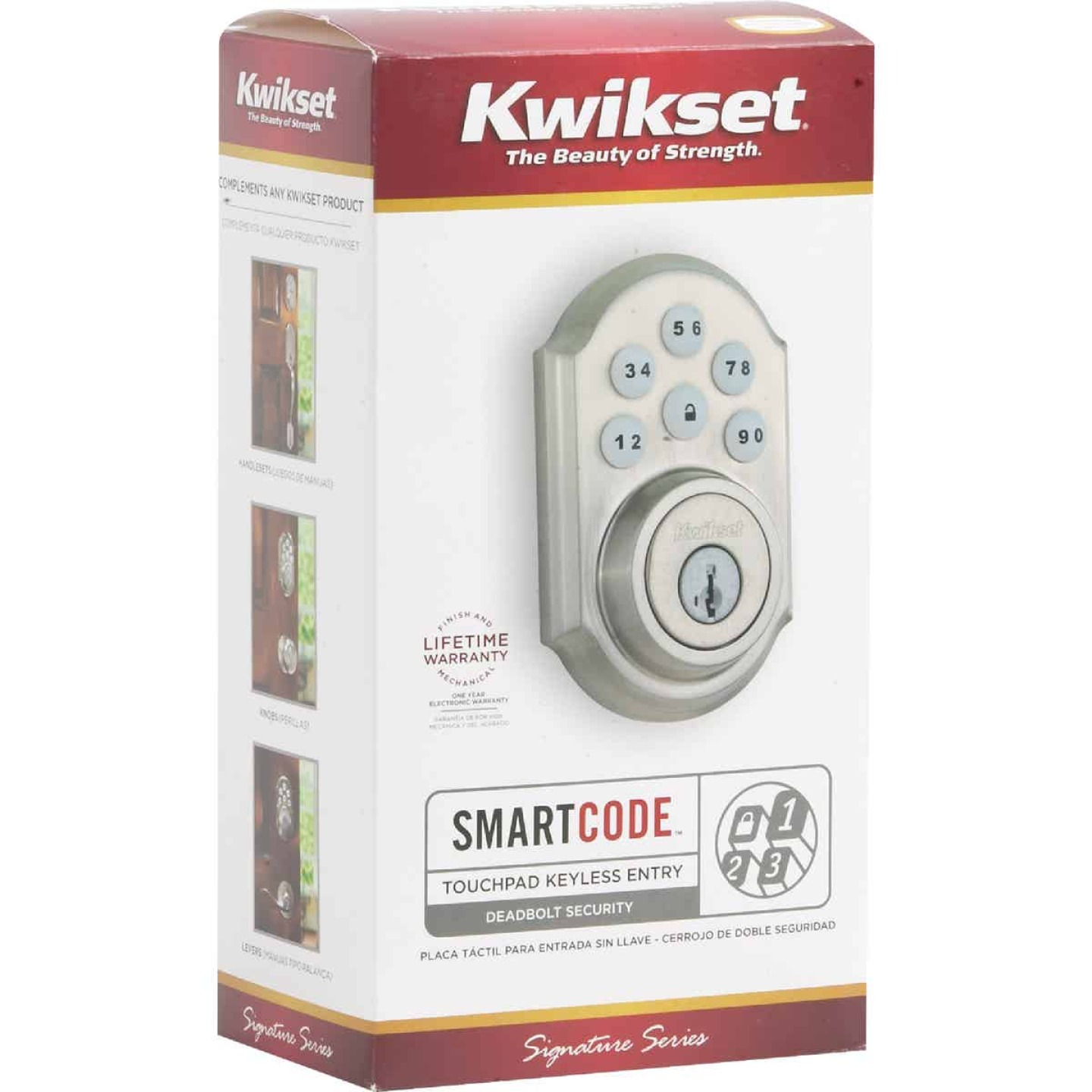 Kwikset Signature Series SmartCode Satin Nickel Electronic Deadbolt Image 7