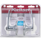 Kwikset Satin Chrome Delta Privacy Door Lever  Image 2