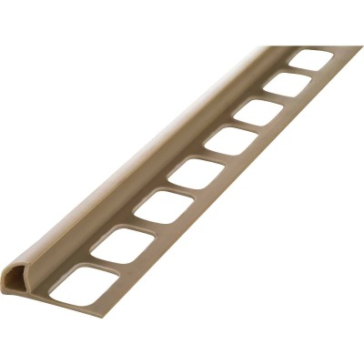 M D Building Products 5/16 In. x 8 Ft. Beige PVC Bullnose Tile Edging