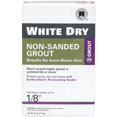 Custom Building Products White Dry 5 Lb. White Non-Sanded Tile Grout