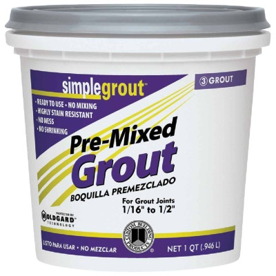 Custom Building Products Simplegrout Quart Earth Pre-Mixed Tile Grout