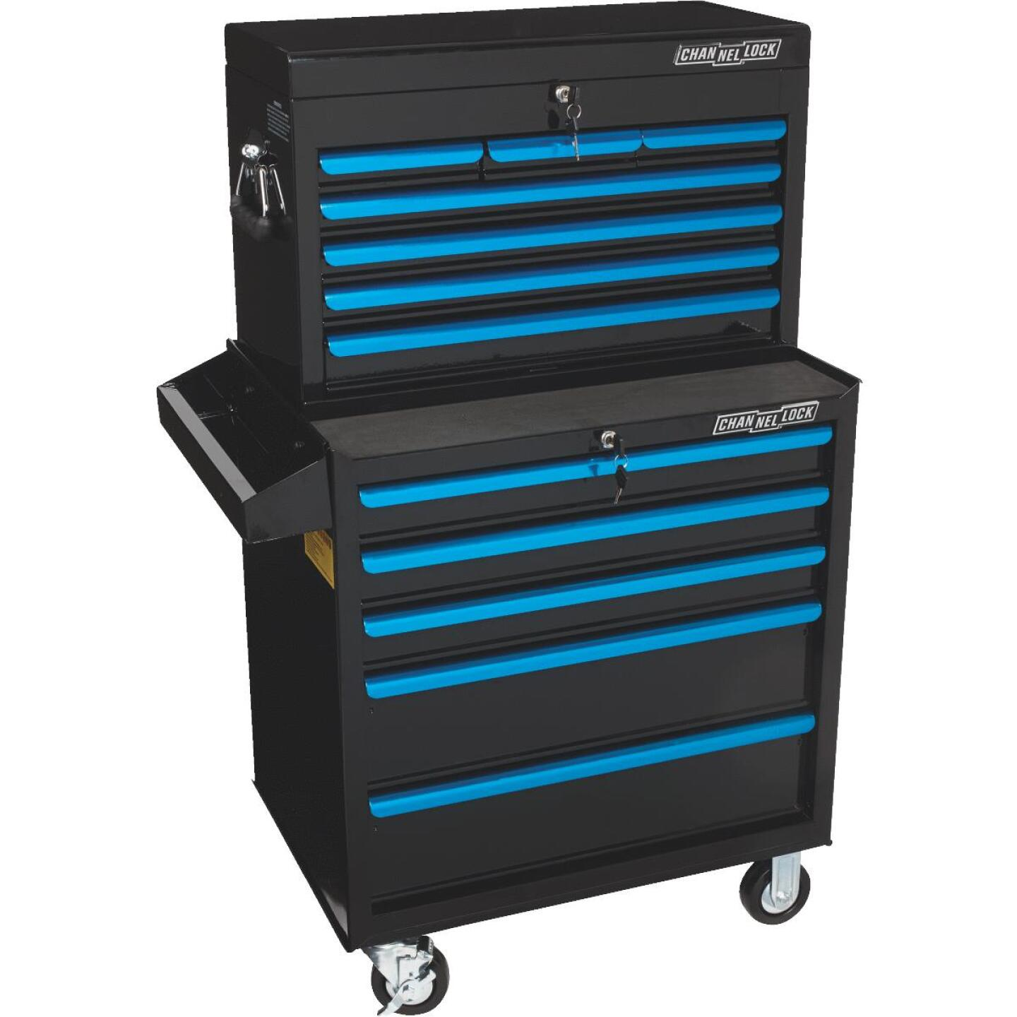 Channellock 26 In. 7-Drawer Black and Blue Tool Chest Image 5
