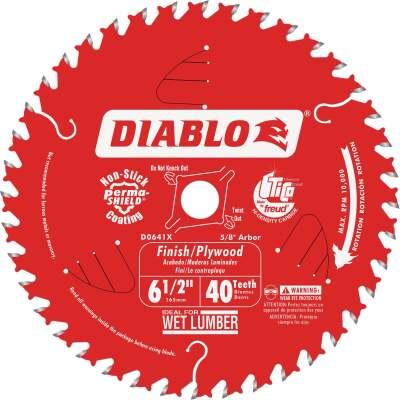 Diablo 6-1/2 In. 40-Tooth Finish/Plywood Circular Saw Blade, Bulk