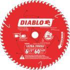Diablo 6-1/2 In. 60-Tooth Ultra Finish Circular Saw Blade, Bulk Image 1