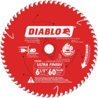 Diablo 6-1/2 In. 60-Tooth Ultra Finish Circular Saw Blade, Bulk Image 1