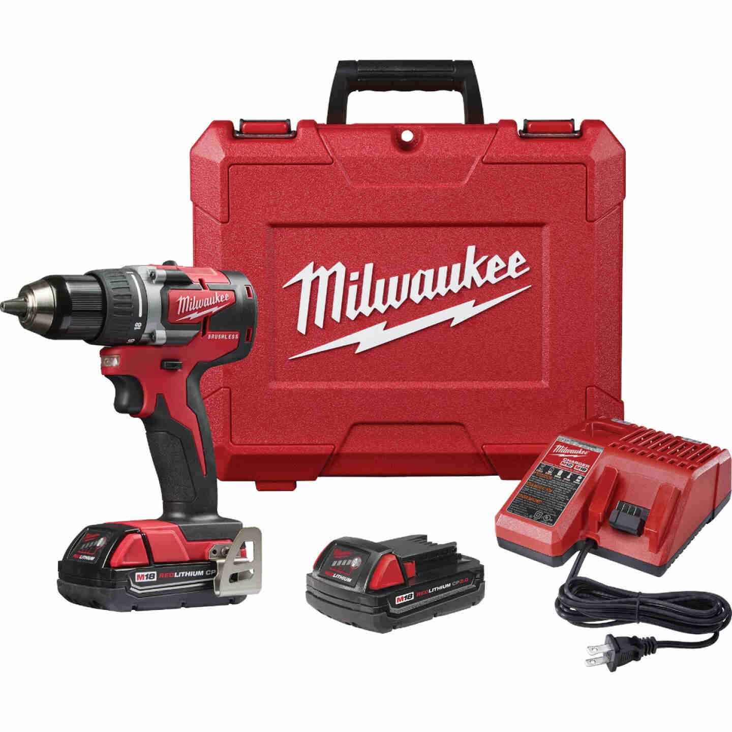 Milwaukee M18 Compact Brushless 1/2 In. Drill Driver Kit Image 1