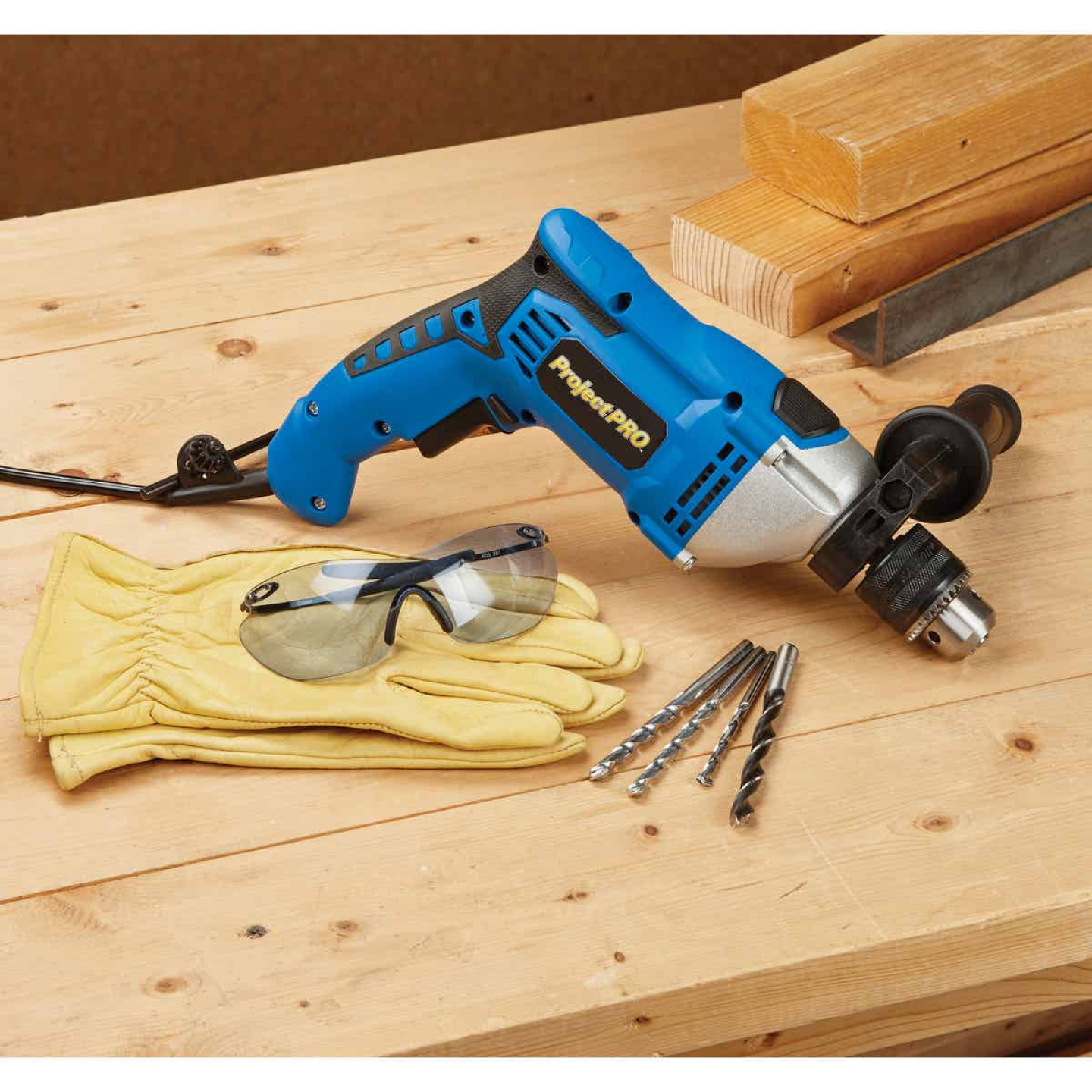 Project Pro 1/2 In. Keyed 6.6-Amp Electric Hammer Drill Image 2