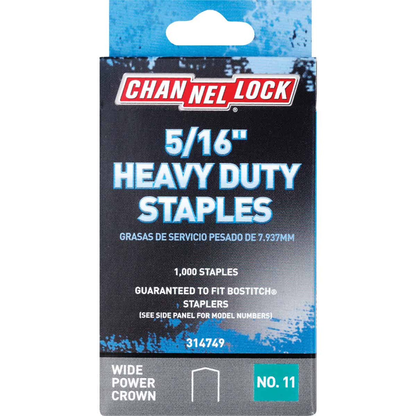 Channellock No. 11 Heavy-Duty Wide Power Crown Staple, 5/16 In. (1000-Pack) Image 1