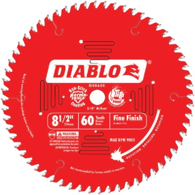 Diablo 8-1/2 In. 60-Tooth Fine Finish Circular Saw Blade