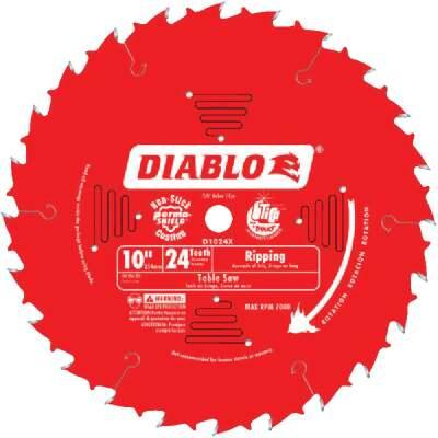 Diablo 10 In. 24-Tooth Ripping Circular Saw Blade