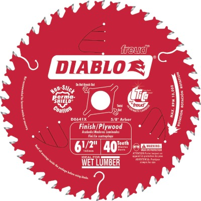 Diablo 6-1/2 In. 40-Tooth Finish/Plywood Circular Saw Blade