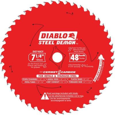 Diablo Steel Demon 7-1/4 In. 48-Tooth Cermet II Carbide Metals & Stainless Steel Circular Saw Blade, Bulk