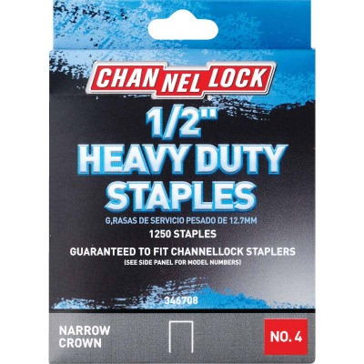 Channellock No. 4 Heavy-Duty Narrow Crown Staple, 1/2 In. (1250-Pack)