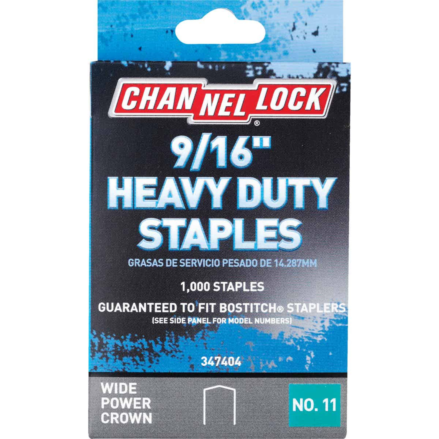 Channellock No. 11 Heavy-Duty Wide Power Crown Staple, 9/16 In. (1000-Pack) Image 1