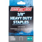 Channellock No. 11 Heavy-Duty Wide Power Crown Staple, 3/8 In. (1000-Pack) Image 1