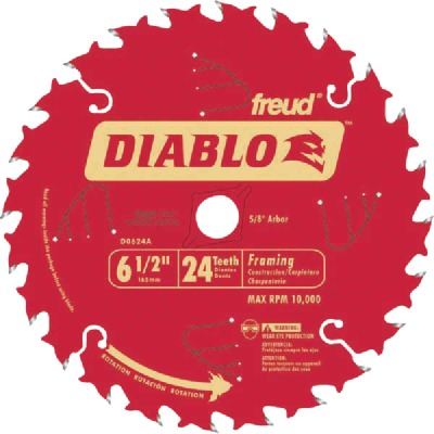 Diablo 6-1/2 In. 24-Tooth Framing Circular Saw Blade, Bulk