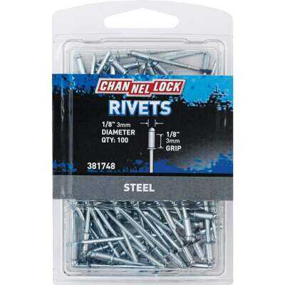 Channellock 1/8 In. Dia. x 1/8 In. Grip Steel Multigrip POP Rivet (100-Pack)