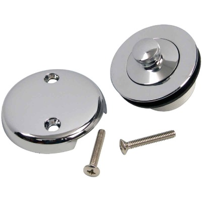 Danco 1-3/8 In. or 1-1/2 In. Universal Bathtub Drain Stopper Kit with Chrome Finish