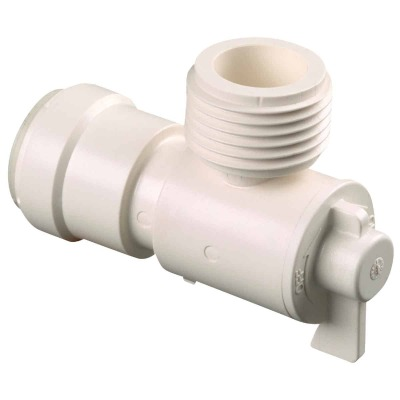 Watts 1/2 In. CTS X 3/4 In. MGH Quick Connect Stop Angle Valve