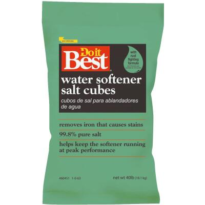 Do it Best 40 Lb. Water Softener Salt Cubes with Rust Remover