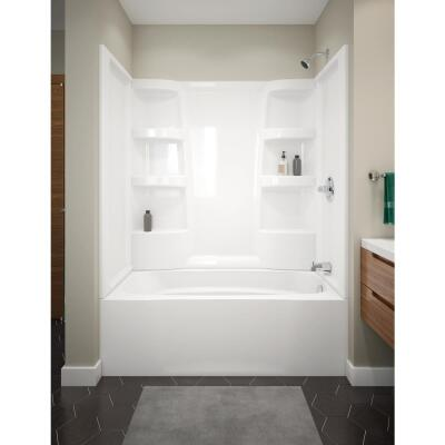 Delta Hycroft 60 In. L x 30 In. W Right Drain Bathtub in White