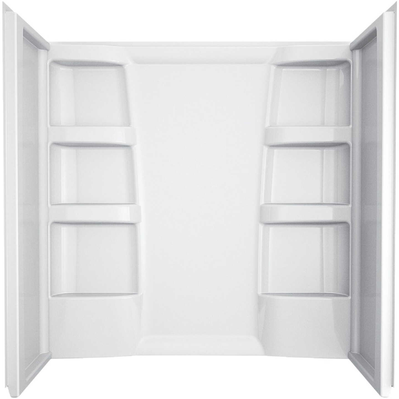 Delta Hycroft 3-Piece 60 In. L x 30 In. D (Bathtub) Tub Wall Kit in White Image 1