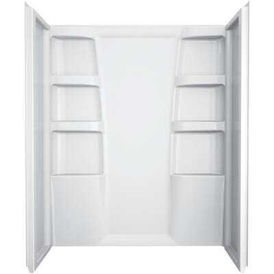 Delta Hycroft 3-Piece 60 In. L x 30 In. D Shower Wall Set in White