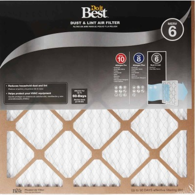 Do it Best 14 In. x 25 In. x 1 In. Dust & Lint MERV 6 Furnace Filter