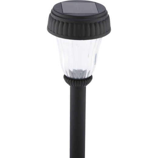 Outdoor Expressions Black 2.10 Lumens Plastic Solar Path Light