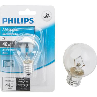 Philips 40W Clear Intermediate S11 Incandescent Appliance Light Bulb