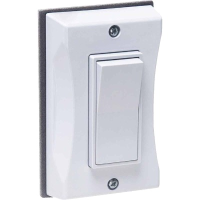 Bell Single Gang Vertical Mount White Weatherproof Outdoor Rocker Switch Cover