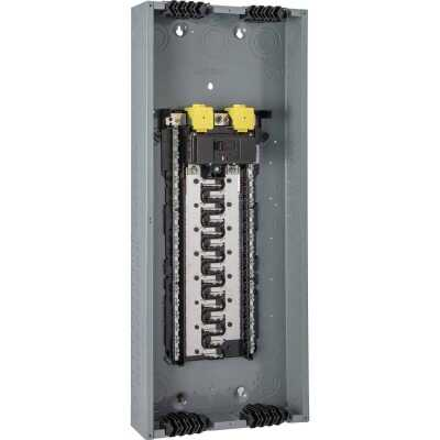 Square D Homeline Qwik-Grip 200A 80-Circuit 40-Space Indoor Main Breaker Plug-On Neutral Load Center