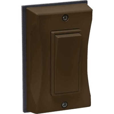 Bell Single Gang Vertical Mount Bronze Weatherproof Outdoor Rocker Switch Cover