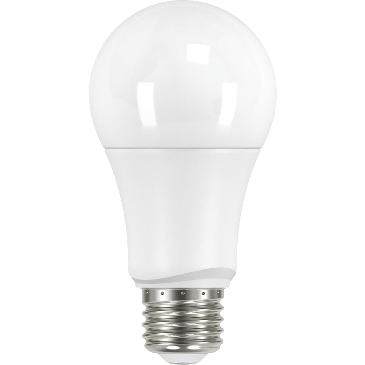 Satco 60W Equivalent Warm White A19 Medium LED Light Bulb (4-Pack) Image 1